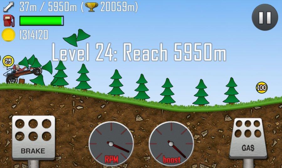 Игровой процесс Hill Climb Racing